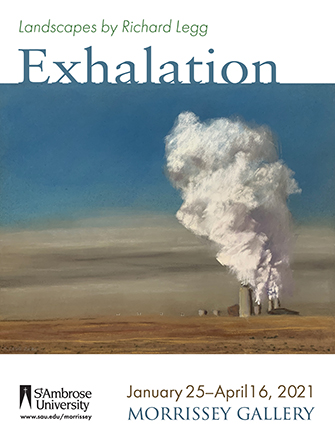Pastel drawing of a landscape with a smokestack