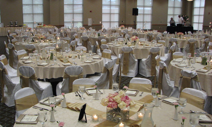 ballroom with tables