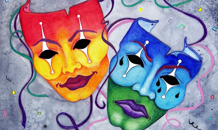 drama and comedy mask