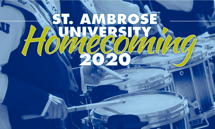 "graphic that reads ""st. ambrose university homecoming 2020"""