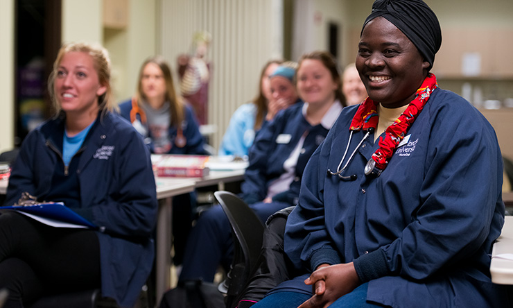 nursing students sitting